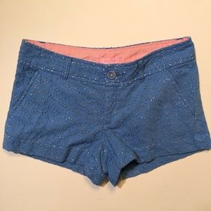 LILLY PULITZER Blue Embroidered Eyelet WALSH Short